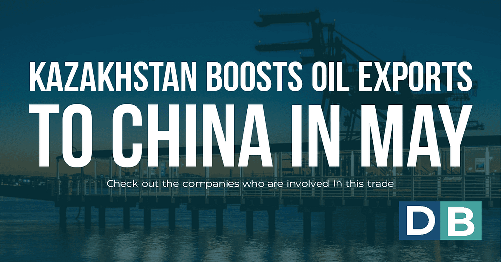 Kazakhstan boosts oil exports to China in May