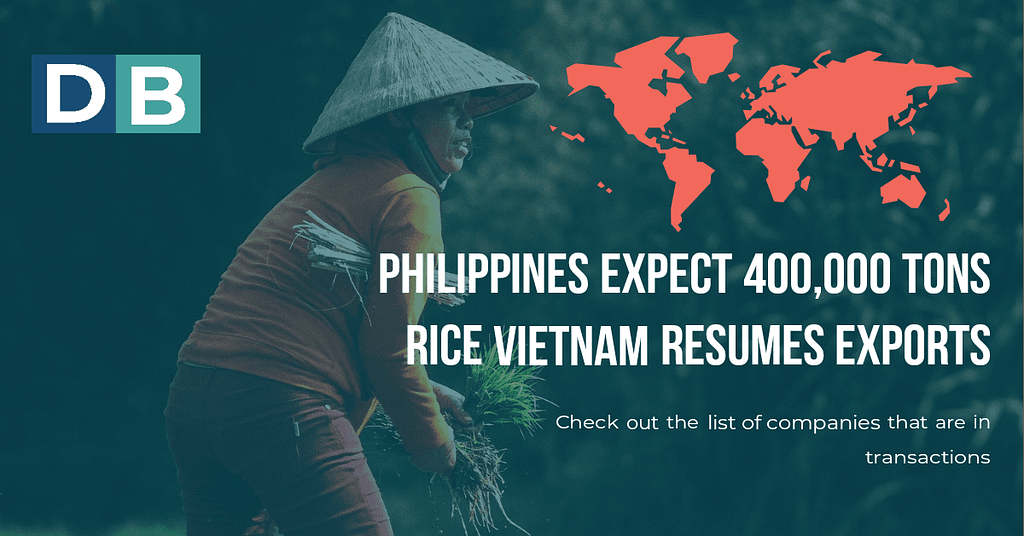 Philippines Expect 400,000 Tons Rice as Vietnam Resumes Export