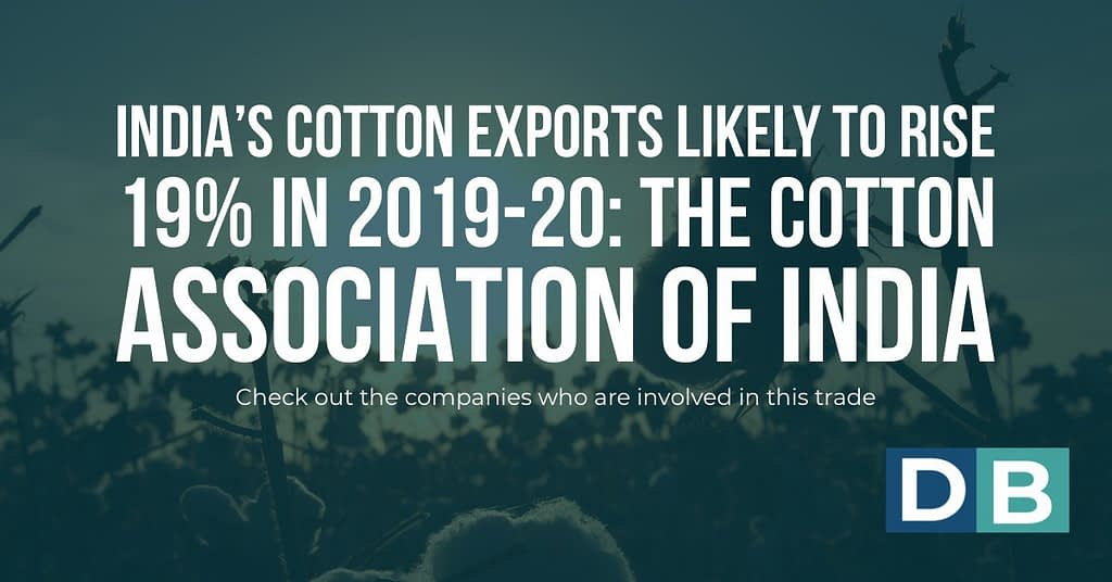 India's cotton exports likely to rise 19% in 2019-20: The Cotton Association of India