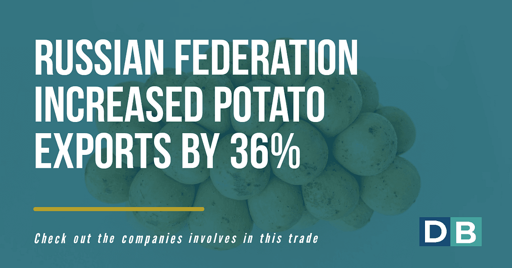 Russian Federation increased potato exports by 36 %