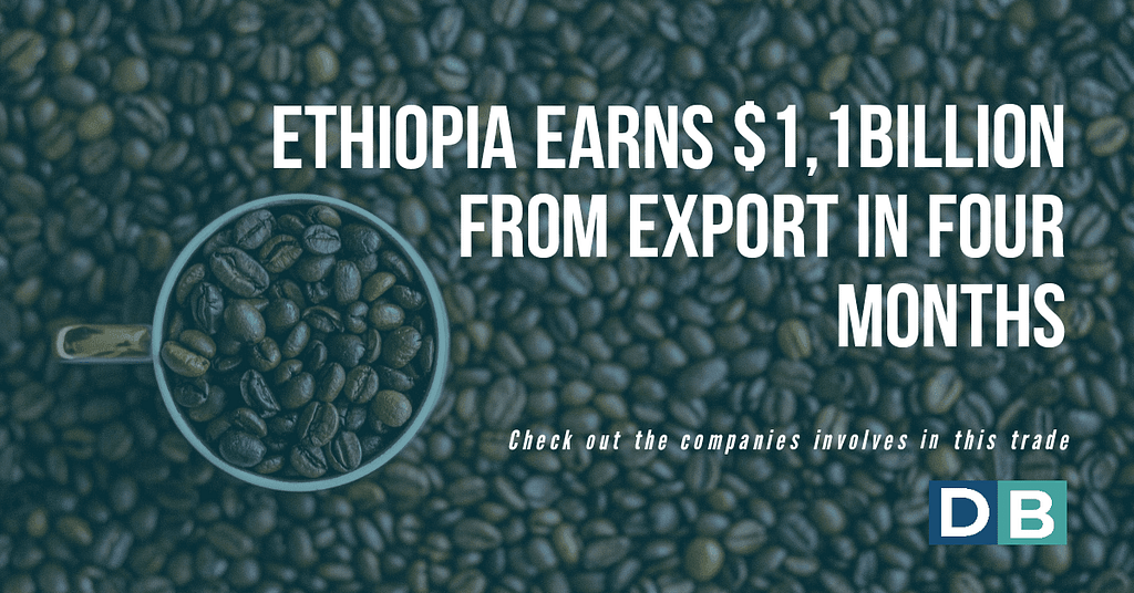 Ethiopia earns $1,1 Billion From Export In Four Months