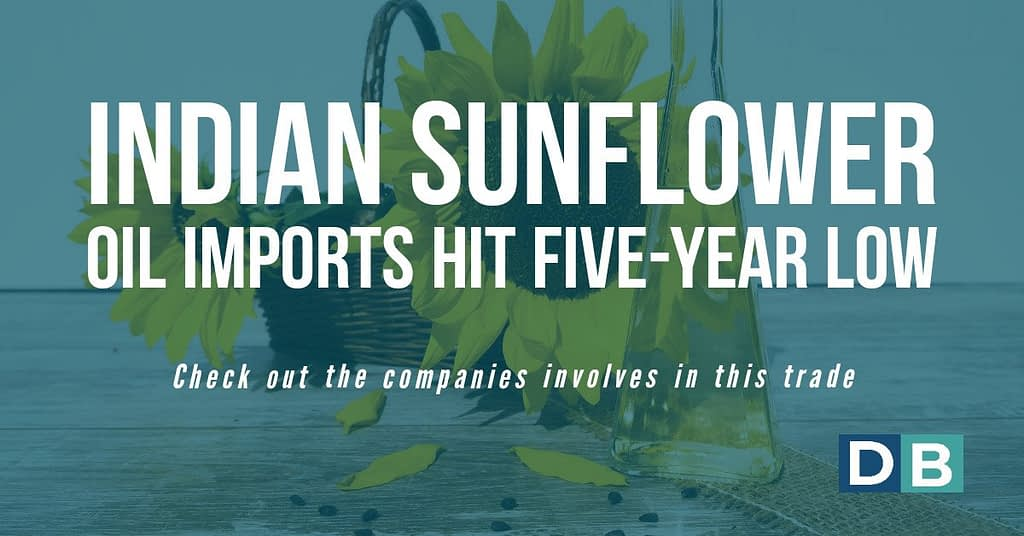 Indian sunflower oil imports hit five-year low