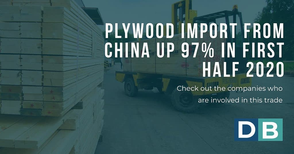 Plywood import from China up 97% in first half