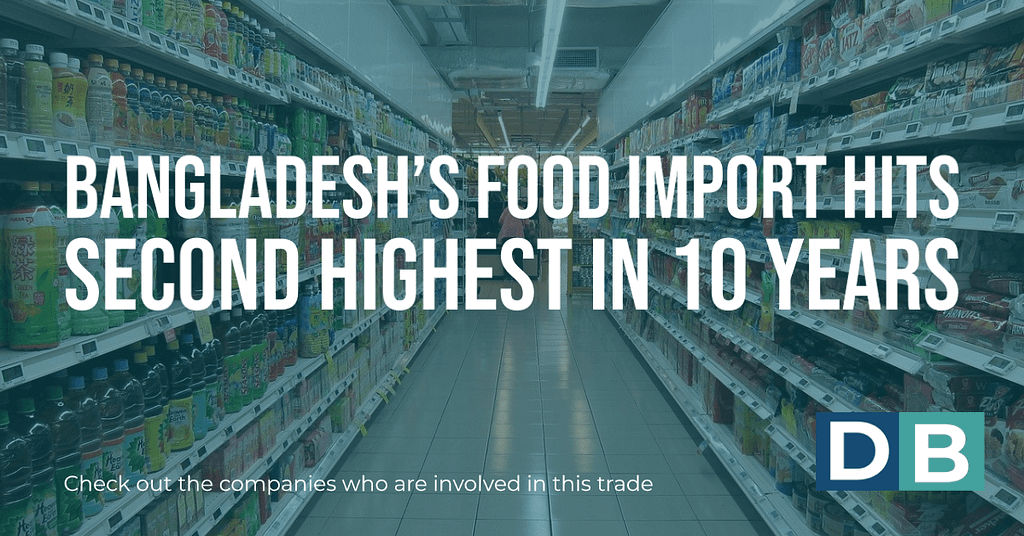 Bangladesh's food import hits second highest in 10 years