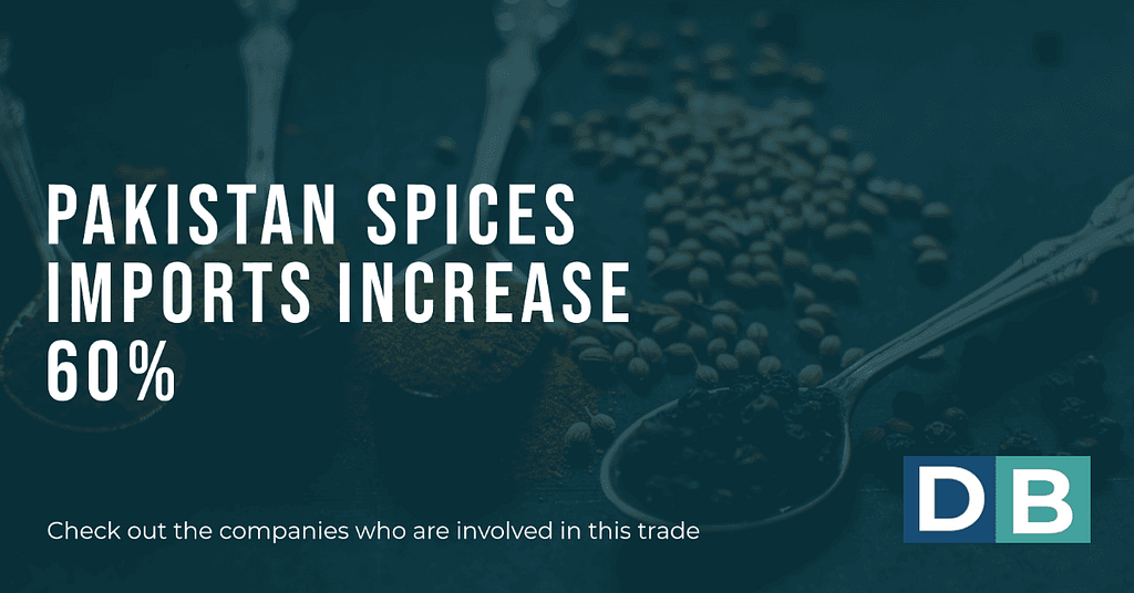 Pakistan Spices Imports Increase 60%