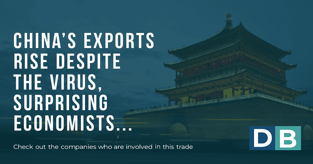 China's exports rise despite the virus, surprising economists.