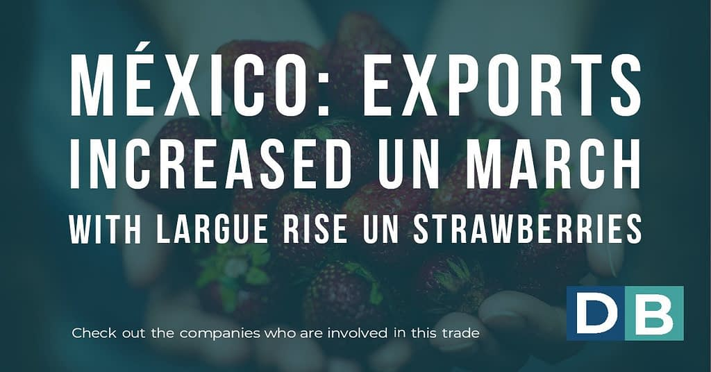 Mexico: Exports increased in March with large rise in strawberries