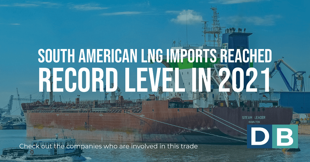 South American LNG imports reached record level in 2021