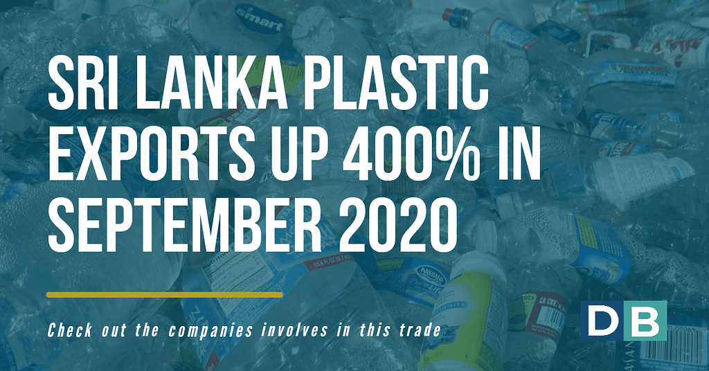 Sri Lanka plastics exports up 400% in September 2020