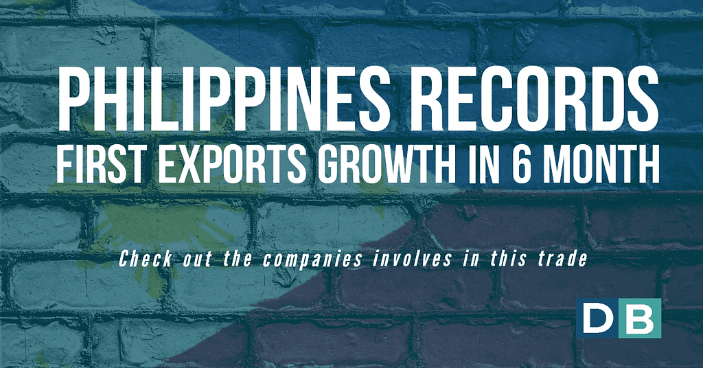 Philippines records first exports growth in 6 months