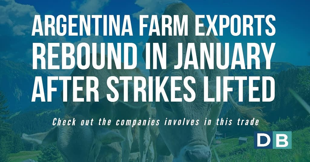 Argentina farm exports rebound in January after strikes lifted